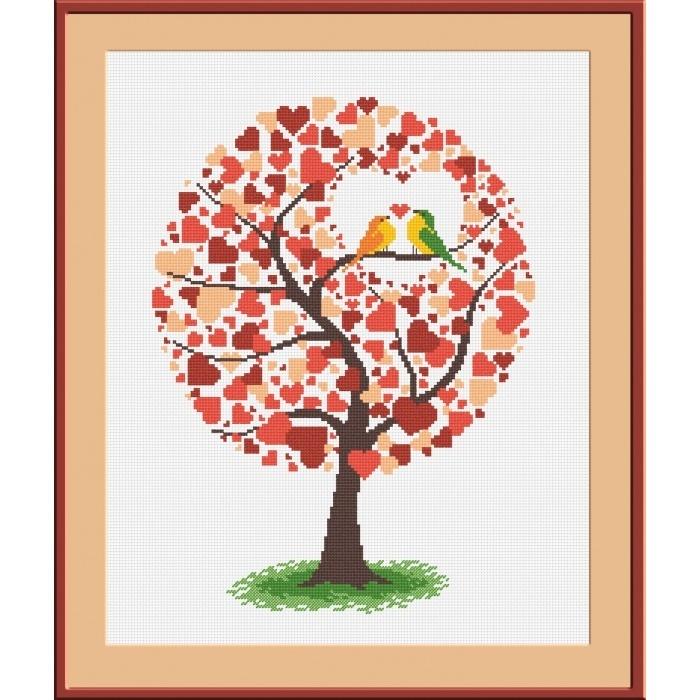 Вышивка крестом дерево любви схемы